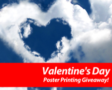 Valentine's Day Poster Printing Giveaway!